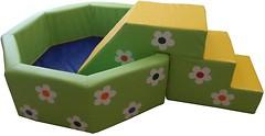Tia-sport Сухой бассейн с горкой цветочек 150x150x40 см (0300)