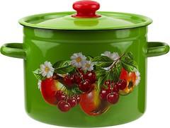 Фото Epos Новомосковская посуда В1617 Зеленое яблоко и вишня (цилиндрическая) 5.5 л