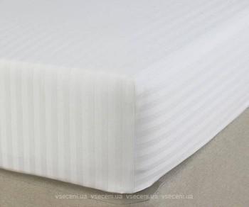 181b5860cac3 Boston Textile Jefferson Простынь на резинке сатин 180x200 Sateen White  Stripe (JSSF180200) - цены в Харькове. Купить в магазинах города