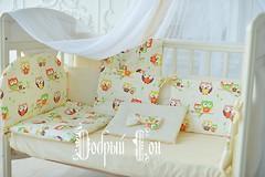 Фото Добрый Сон Baby line Eco 2 Совы детский 7 эл бежевый