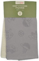 Фото Home Line Набор полотенец 40x60 кремовое-серое (118297)