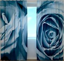 Фото Wellmira Штора Розы в голубых тонах 260x250