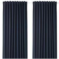 Фото IKEA Majgull темно-синяя 145x300 (203.410.36)