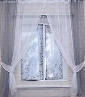Фото VR-Textil Штора на кухню 280x170 бело-серая
