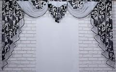 Фото VR-Textil Ламбрекен 250x140 черно-белый