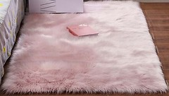 Фото MacroHorizon Прямоугольный пушистый 1x1.7 розовый (MG-RUG-2005105)