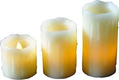 Фото Mica Decorations набор свечей Кремовый 3 шт. (8712799937901)