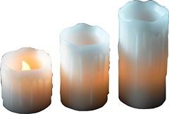 Фото Mica Decorations набор свечей Белый 3 шт. (8712799937918)