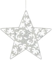 Фото Christmas House подвеска Звезда белая 20 см (8718861139532)