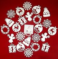 Фото Зробив Тато набор подвесок Рождественская метель 24 шт. (TOYS18017)
