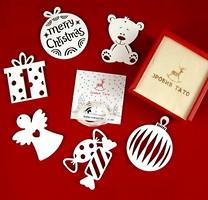 Фото Зробив Тато набор подвесок Рождественский сюрприз 6 шт. (TOYS18010)