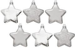 Фото House of Seasons набор фигурок Звезды серый 6 см 6 шт.