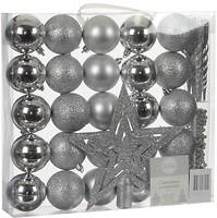 Фото House of Seasons набор украшений Шарики серый 33 шт.