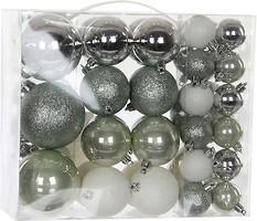 Фото House of Seasons набор шаров серый 8 см, 46 шт.