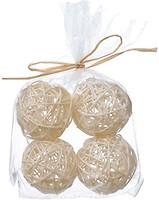 Фото Time Eco набор шаров из ротанга белый 4 шт.