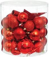 Фото Time Eco набор украшений красный 40 шт.