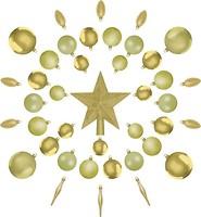 Фото Jumi набор украшений золотой 40 шт. (5900410348288)