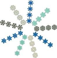 Фото Jumi набор подвесок Снежинки 36 шт. (5900410693654)