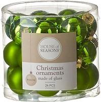 Фото House of Seasons набор шаров зеленый 2.5 см, 24 шт.