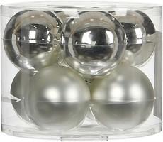 Фото House of Seasons набор шаров серый 7 см, 8 шт.