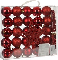 Фото House of Seasons набор украшений Шарики красный 33 шт.