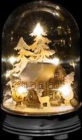 Фото Luca Lighting Украшение настольное Зимняя сцена, домик 14 см (8718861684254)