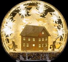 Фото Luca Lighting Украшение настольное Зимняя сцена, домик 22 см (8718861684230)