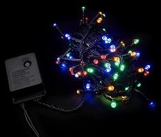 Фото DeLux String C 100 LED 5 м мультиколор/черный IP20 (90009496)