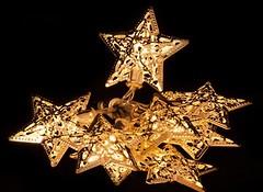 Фото Luca Lighting Золотистые звезды 1.35 м (8712799938526)