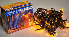 Фото Delux Icicle 108 LED 2x1 м черный/желтый IP44 (90012942)