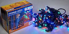 Фото Delux Icicle 108 LED 2x1 м черный/мульти IP44 (90012950)