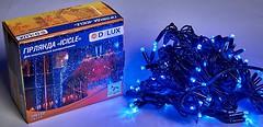 Фото Delux Icicle 108 LED 2x1 м черный/синий IP44 (90012946)