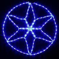 Фото Delux мотив Star 60x60 см белый IP44 (90012983)