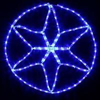 Фото Delux Мотив Star 60x60 см синий IP44(90012984)