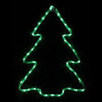 Фото Delux Мотив Christmas Tree 60x45 см зеленый IP44 (90012986)