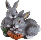 Фото Славянский сувенир Зайцы с морковкой (5.471)