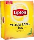 Фото Lipton Чай черный пакетированный Yellow Label (картонная коробка) 100x2 г