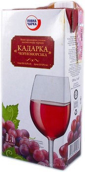 Повна Чарка Кадарка Черноморская красное полусладкое 1 л