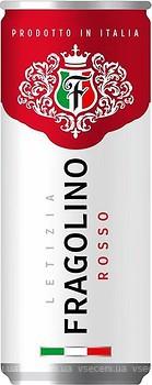 Letizia Fragolino Rosso красное полусладкое 0.33 л