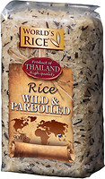 Фото World's Rice Wild + Parboilend 900 г