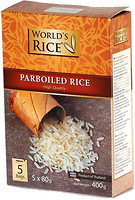 Фото World's Rice parboiled 5x 80 г