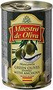 Фото Maestro de Oliva оливки зеленые с анчоусом 300 г