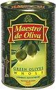 Фото Maestro de Oliva оливки зеленые с косточкой 300 г