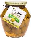 Фото Olymp оливки зеленые фаршированные миндалем 370 мл