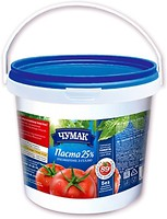 Фото Чумак паста томатна з сіллю 25% 1 кг