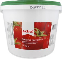 Фото Extra! томатна паста 25% 5 кг