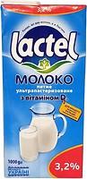 Фото Lactel молоко ультрапастеризованное с витамином D3 3.2% 1 л
