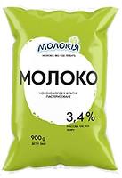 Фото Молокія Молоко пастеризованное 3.4% п/э 900 мл