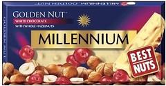 Фото Millennium белый Golden Nut с цельным орехом и клюквой 100 г