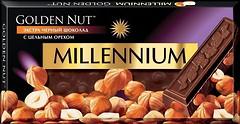 Фото Millennium черный Golden Nut с цельным орехом 100 г